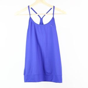 Adidas Womens Tank Top Athletic Fitness Blue Z83